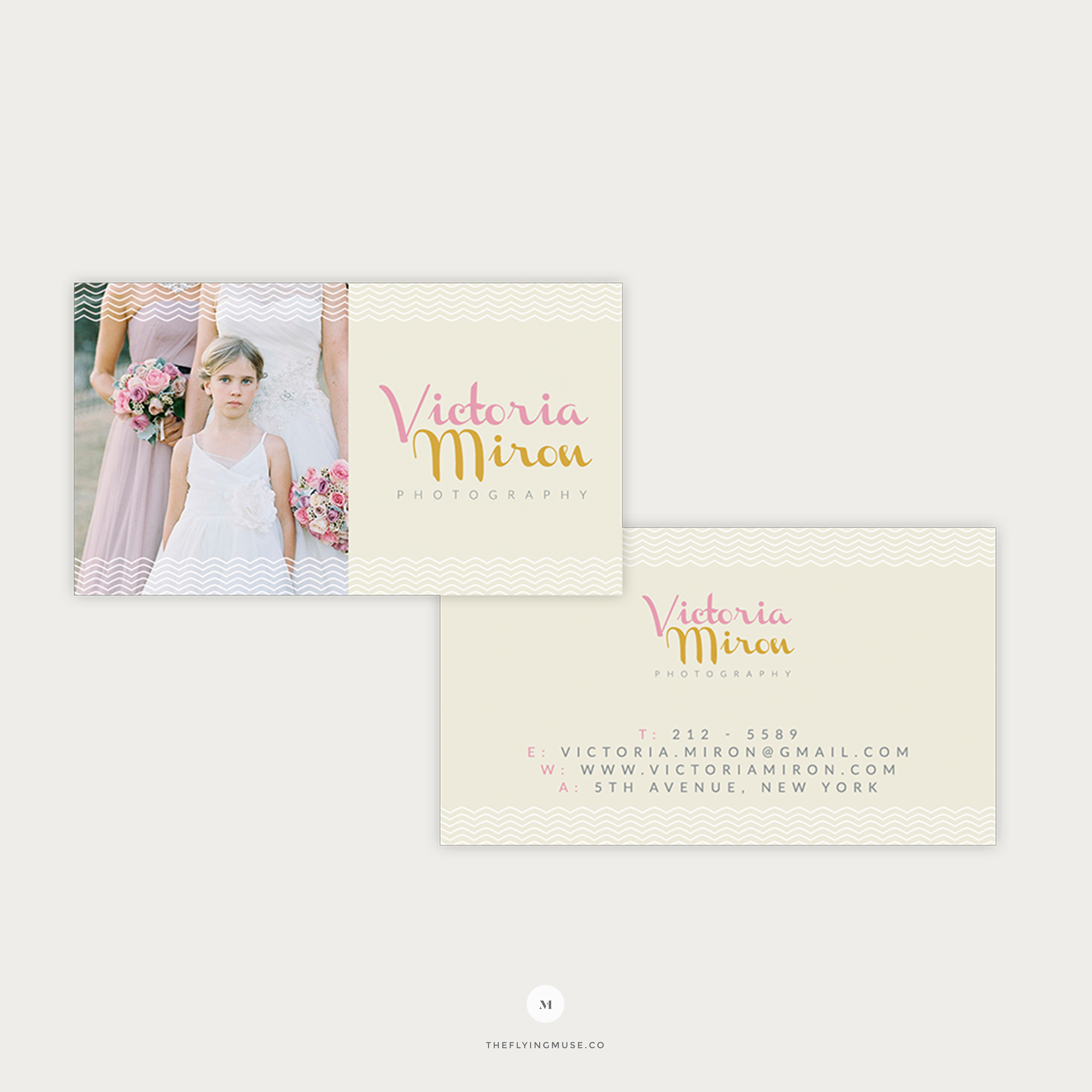 Wedding Photographer Business Cards Template