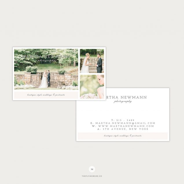 Business Card Template Design for Wedding Photographers
