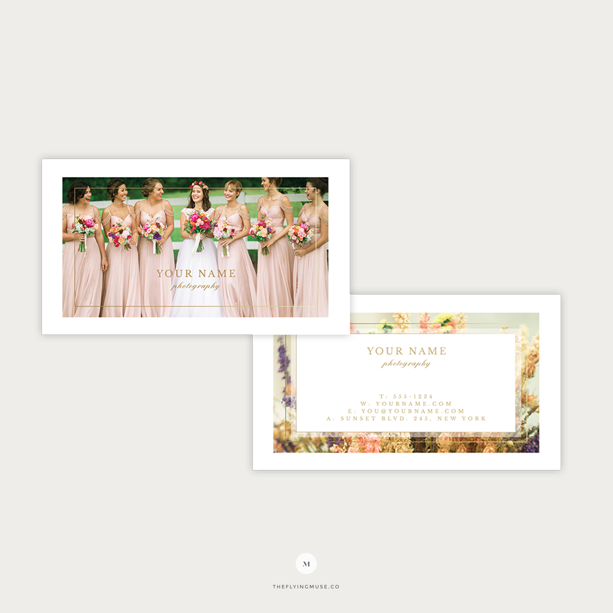 Elegant Wedding Photography Business Card Template The Flying Muse