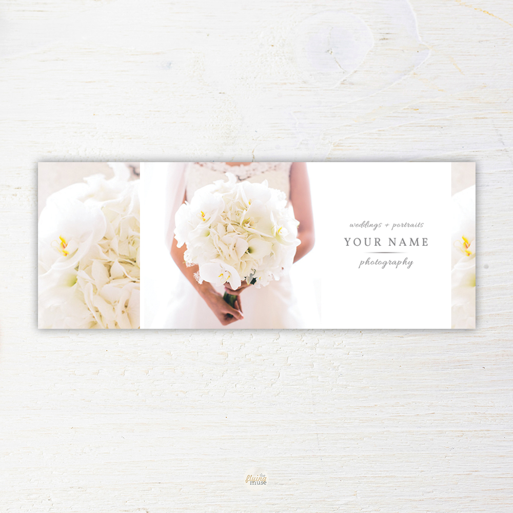 Wedding Photography Facebook Timeline Cover Marketing Template