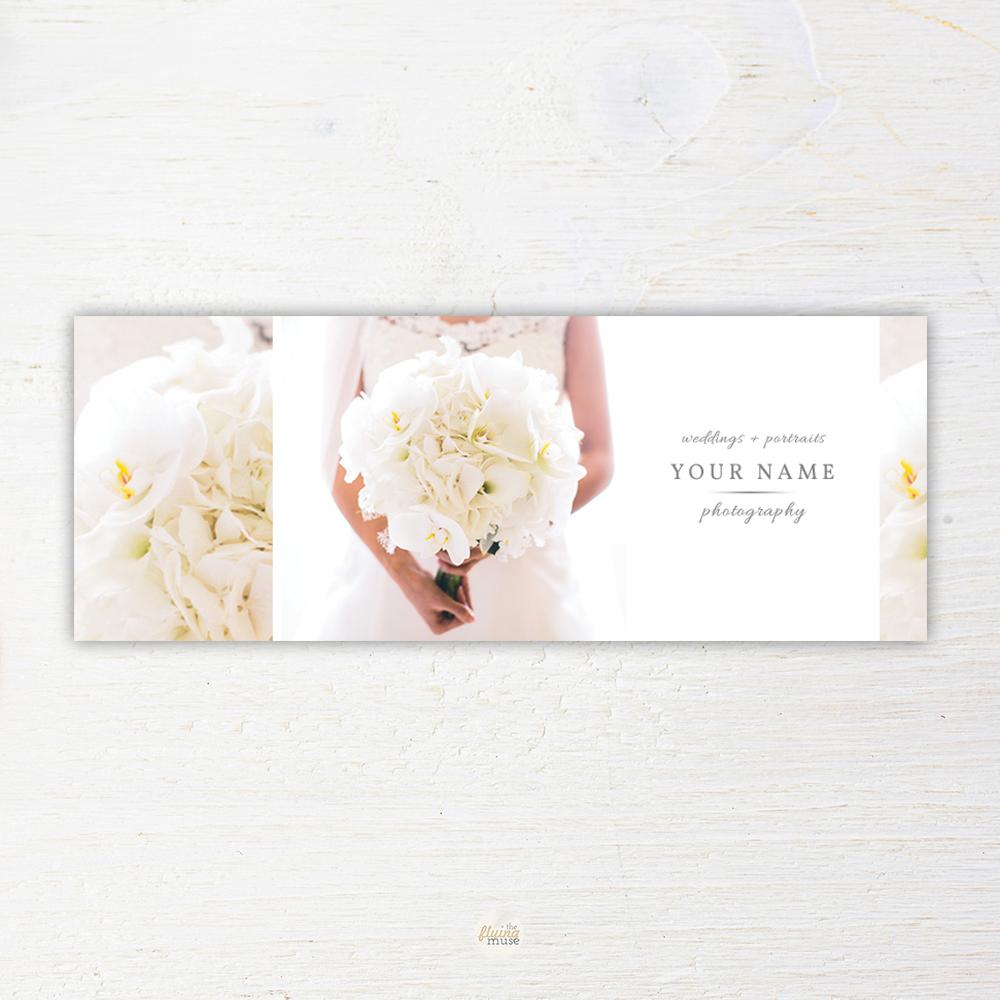 Elegant Wedding Photography Facebook Timeline Cover Template