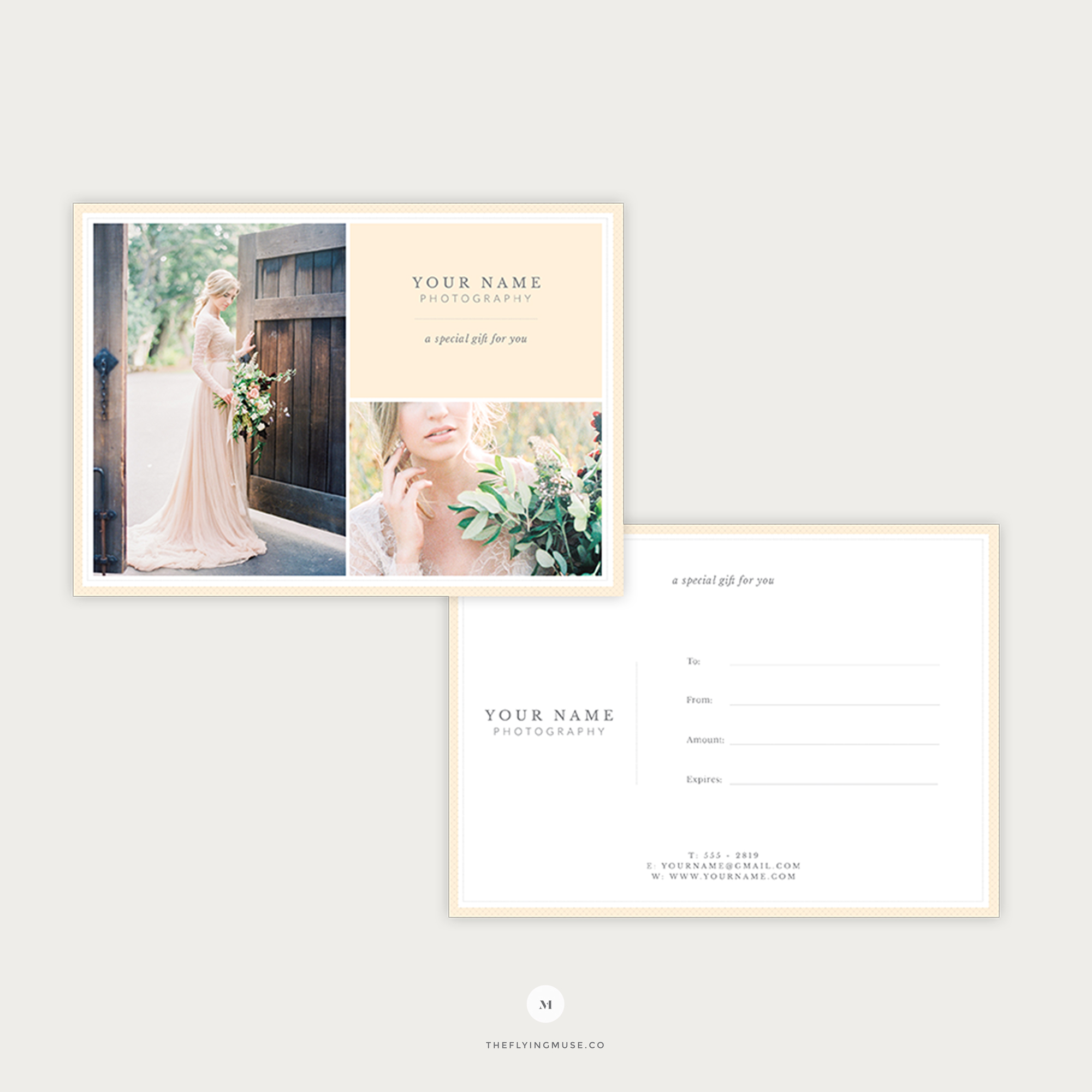 Photographer Gift Certificate Template
