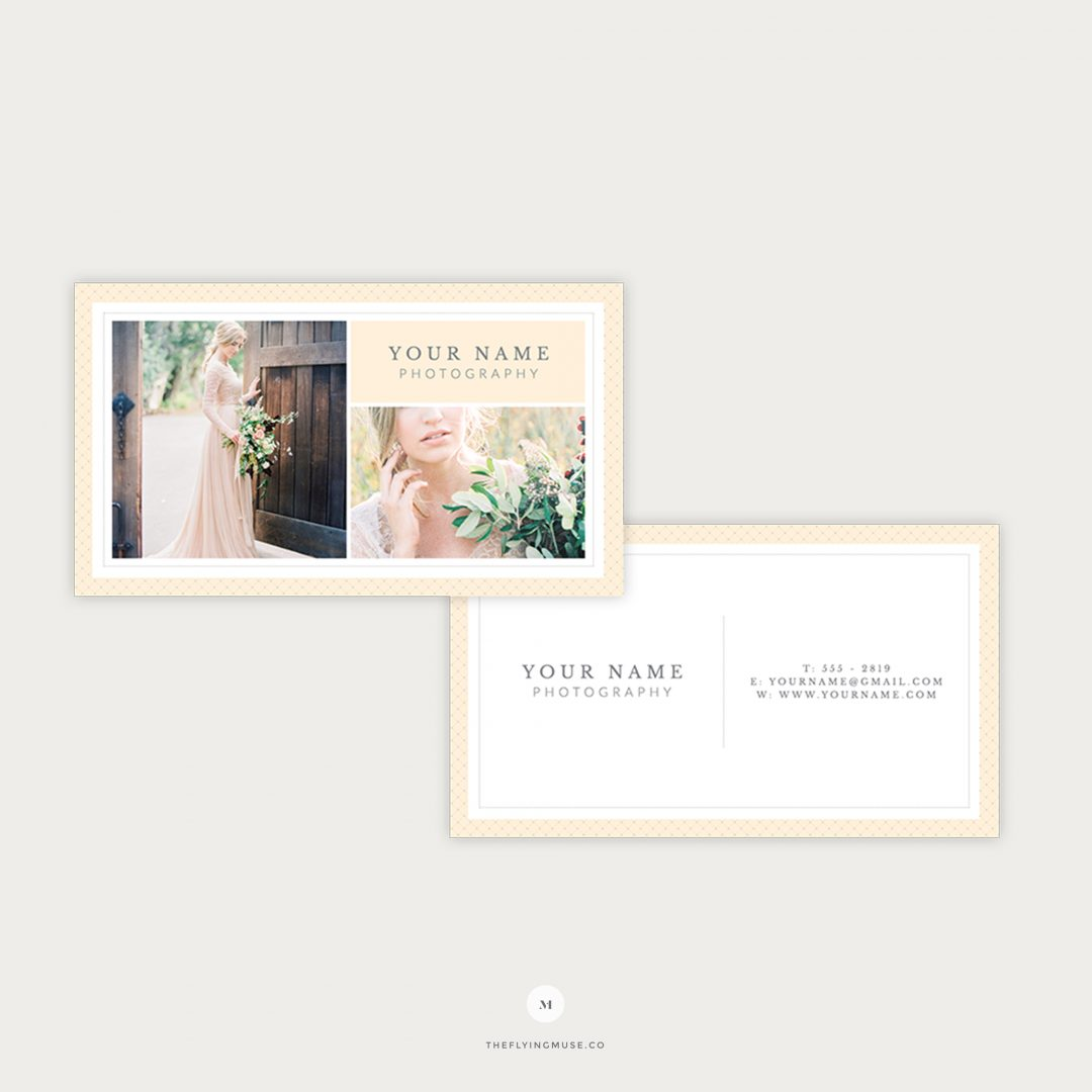 Photography Business Card Template for Photographers and Boutique Wedding Business