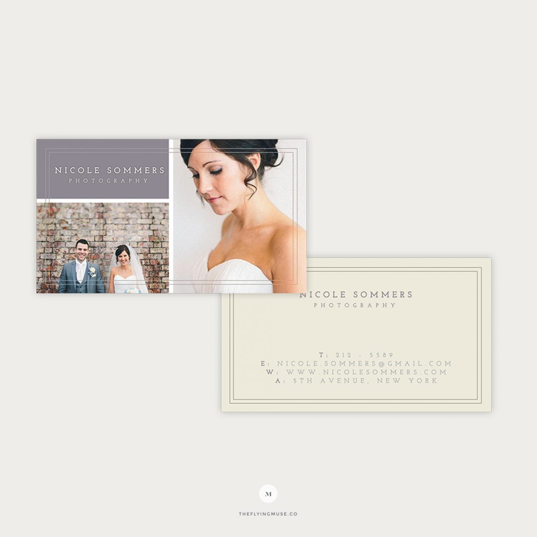 Photography Business Cards Template for Wedding Photographers