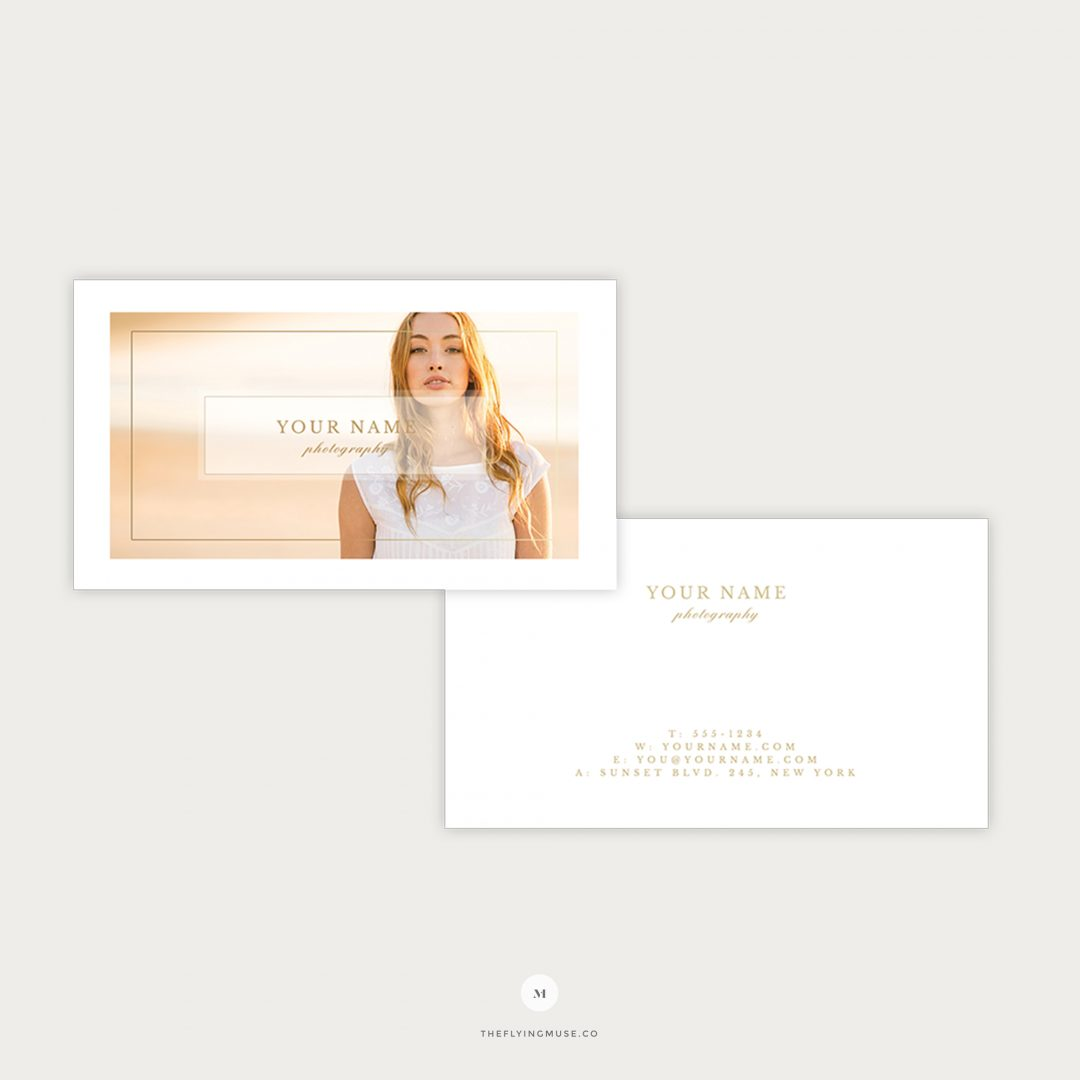 Photography Business Cards Photoshop Template BS008