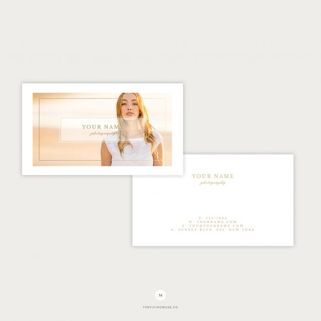 Photographer business card the flying muse business cards template for wedding photography marketing colourmoves