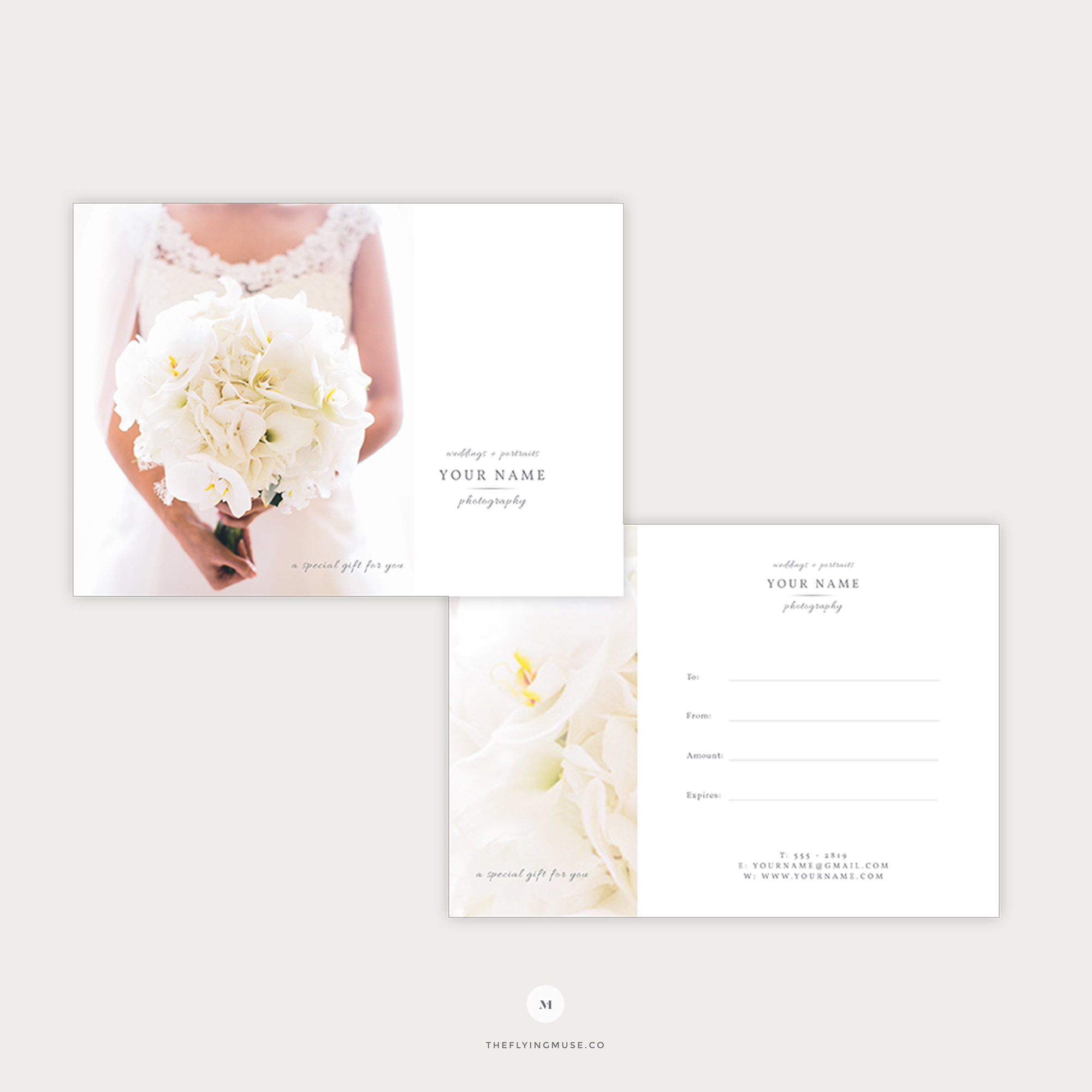 Elegant Gift Certificate Template For Wedding Photographers The