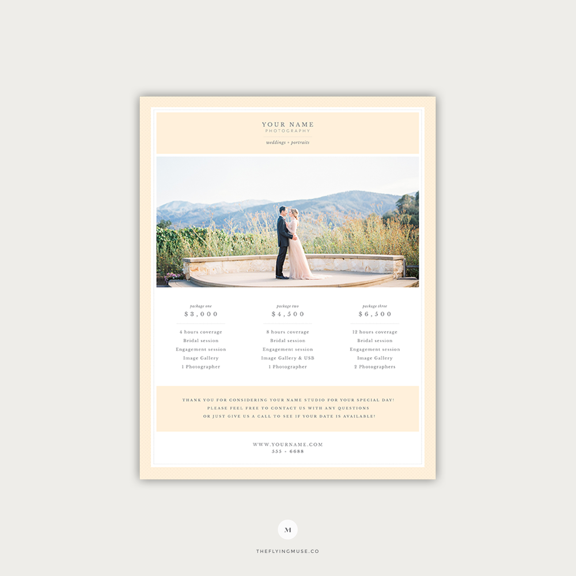 Wedding Photography Pricing Guide Template The Flying Muse