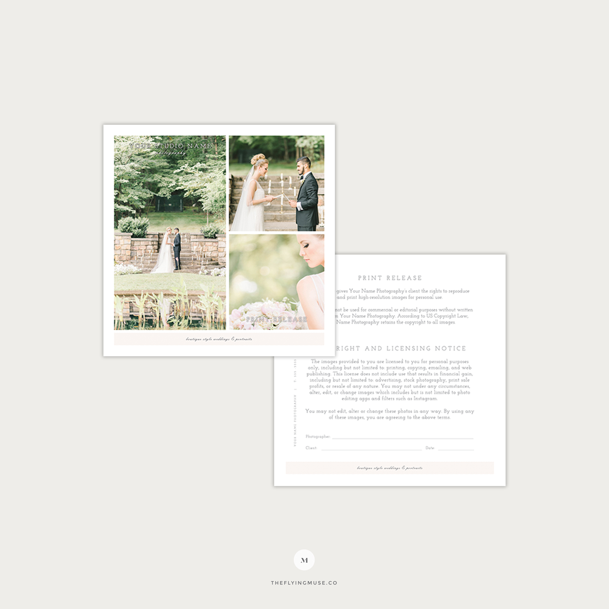 Wedding Photography Print Release Template