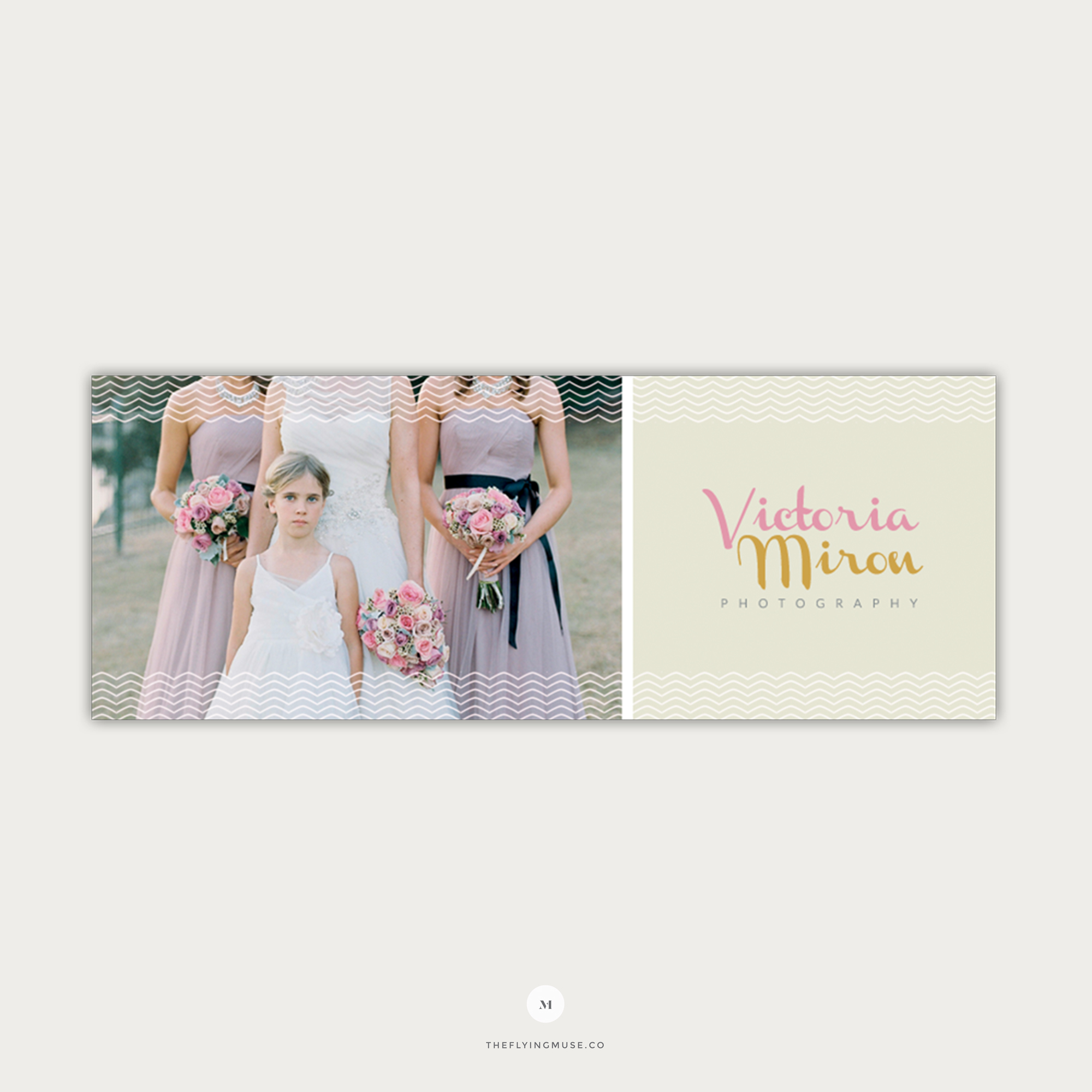 Vintage Wedding Photography Facebook Cover Template