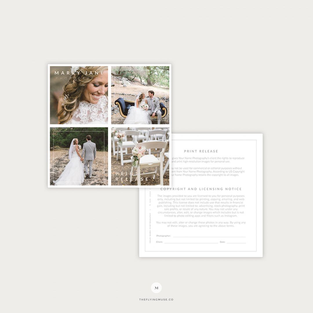 Wedding Photographer Licensing Form