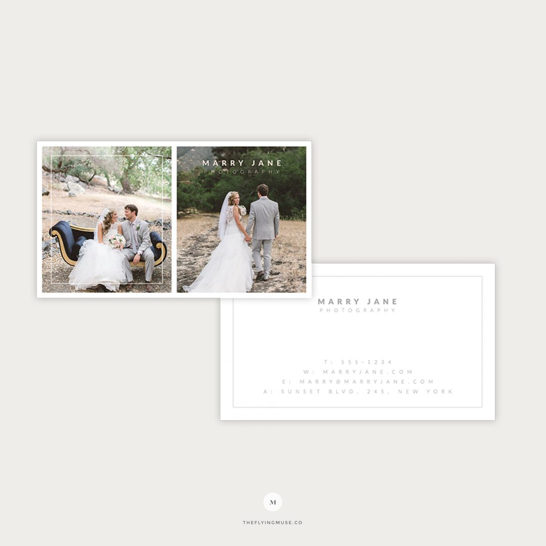 Wedding Photography Business Cards Template Design