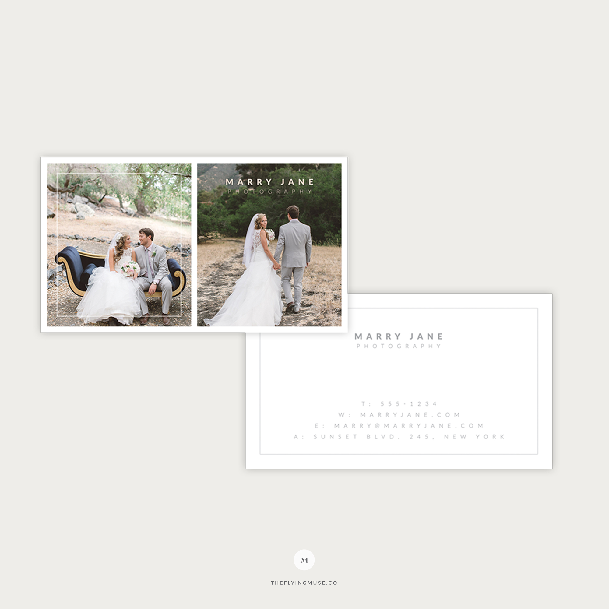Wedding Photography Business Cards - the Flying Muse
