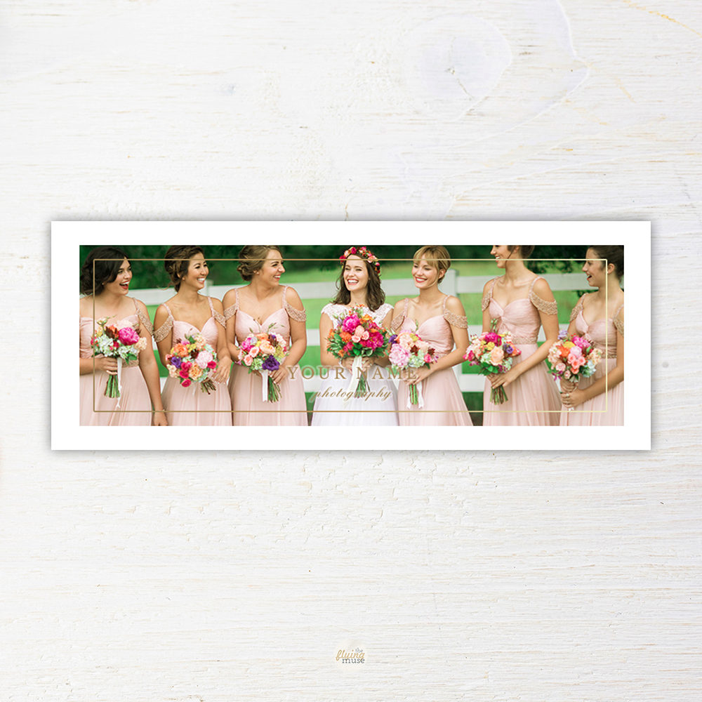Wedding Photographer Facebook Cover Timeline Template