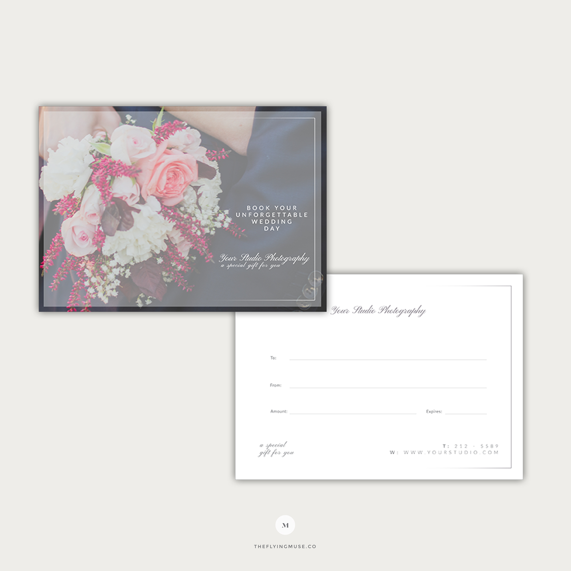 Wedding Photography Gift Card Template