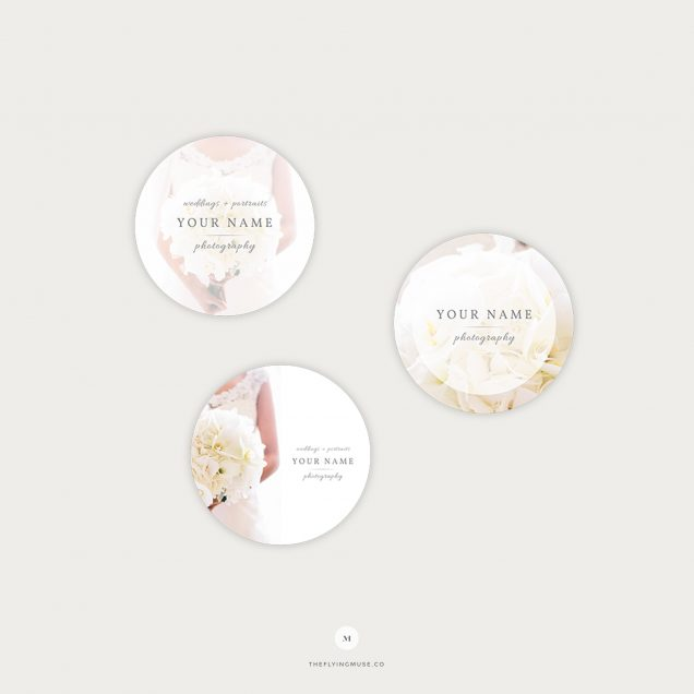 Elegant Sticker Templates for Wedding Photographers