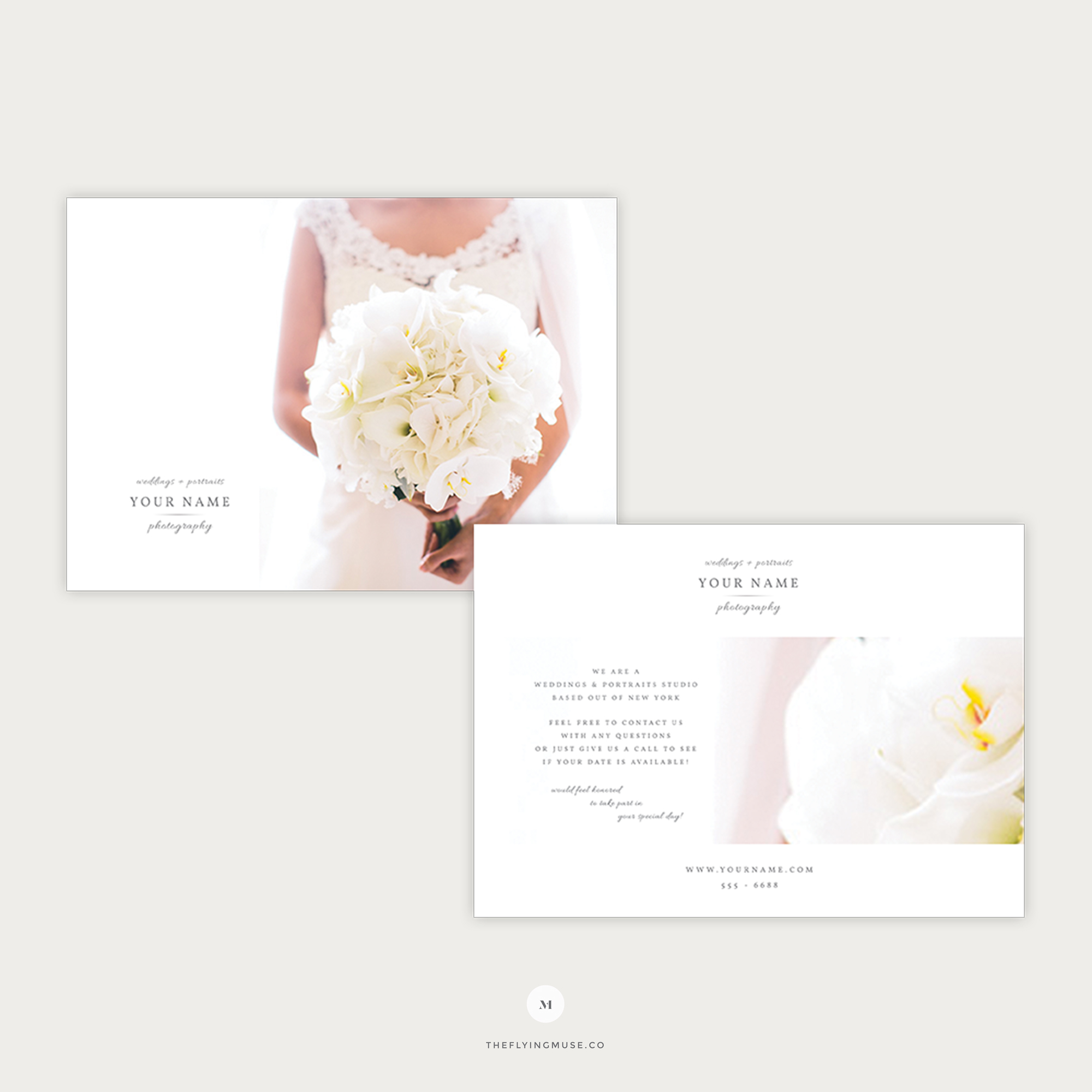 Elegant Flyer Template For Wedding Photographers The Flying Muse