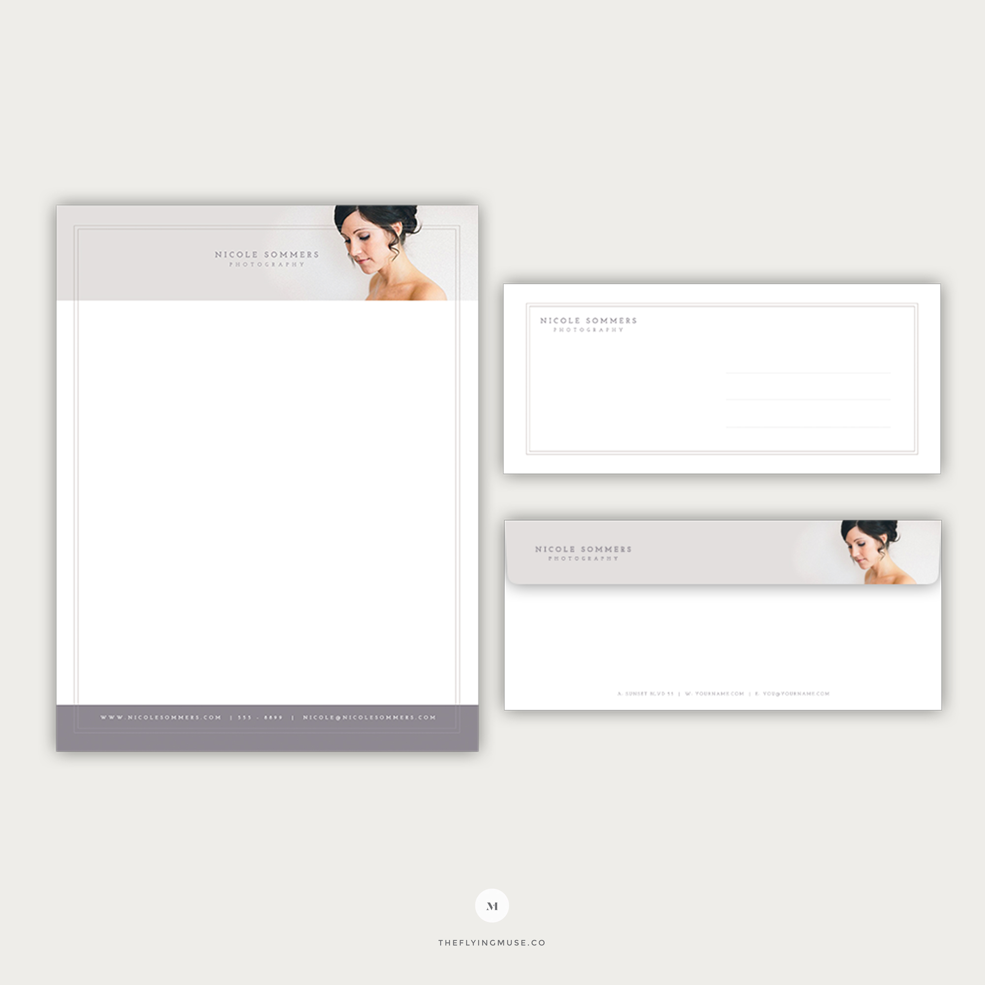 Stationery - Letterhead and Envelope Design for Wedding Photographers
