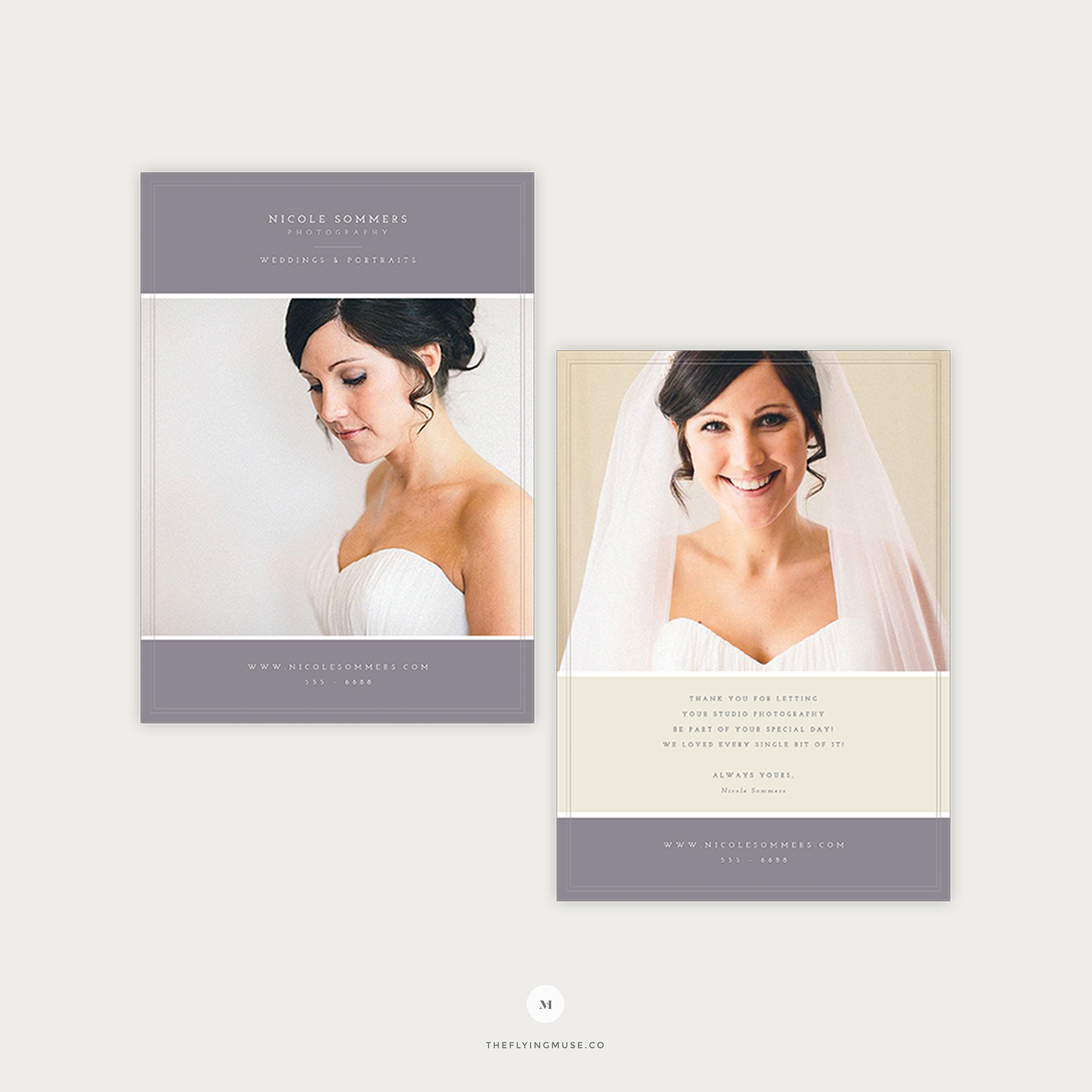 Photography Thank You Card Template The Flying Muse