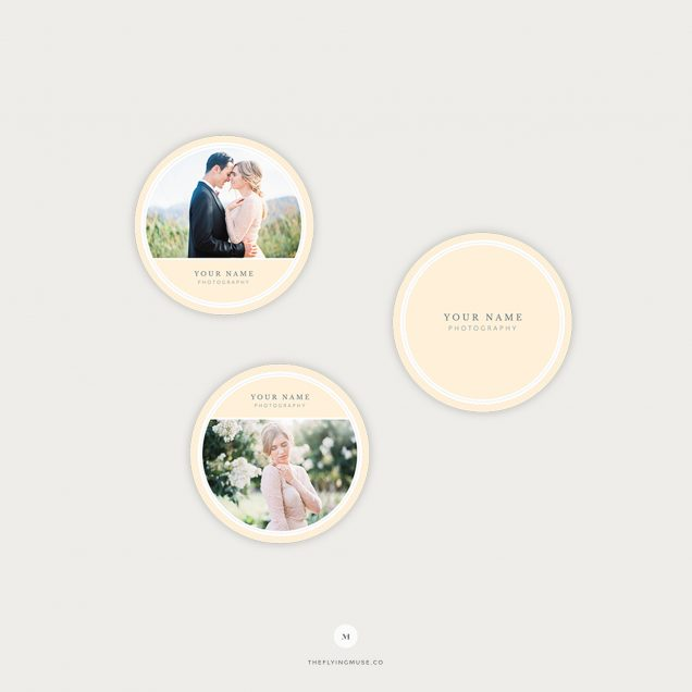Round Sticker Templates for Photographers