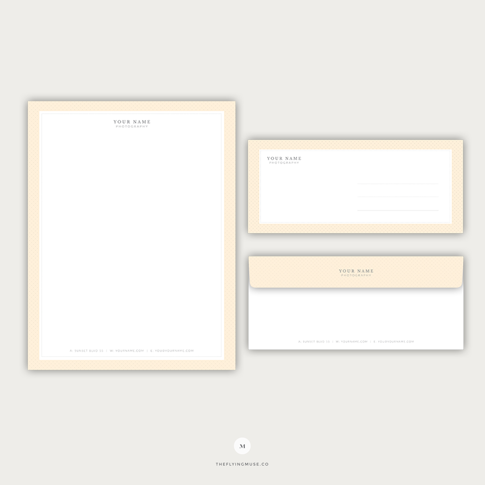 Wedding photography letterhead and envelope template for 8 5 x 11 envelope template