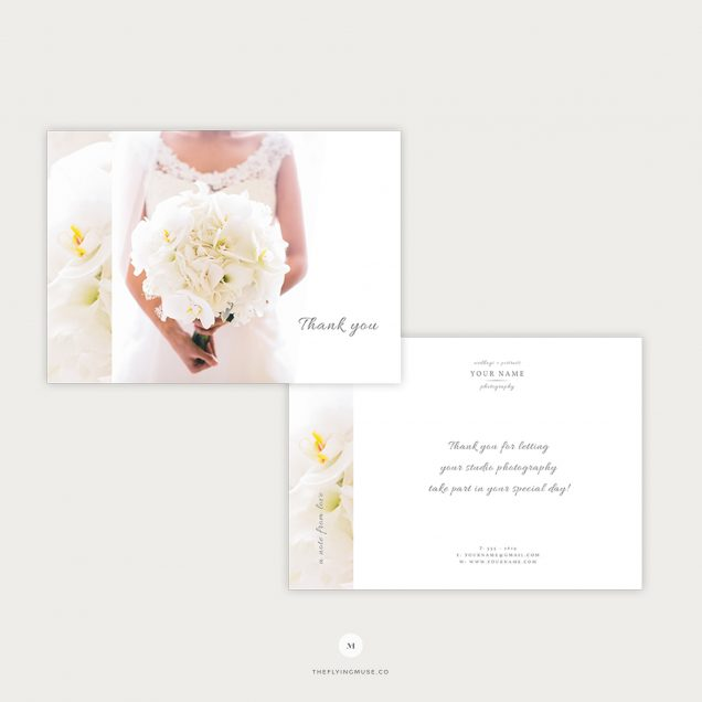 Wedding Photographer Thank You Card Template