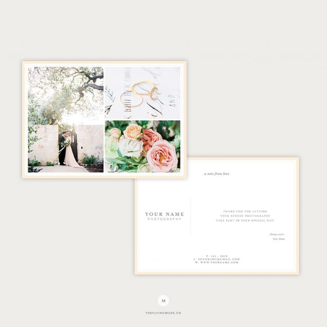 Wedding Photography Thank You Card Template