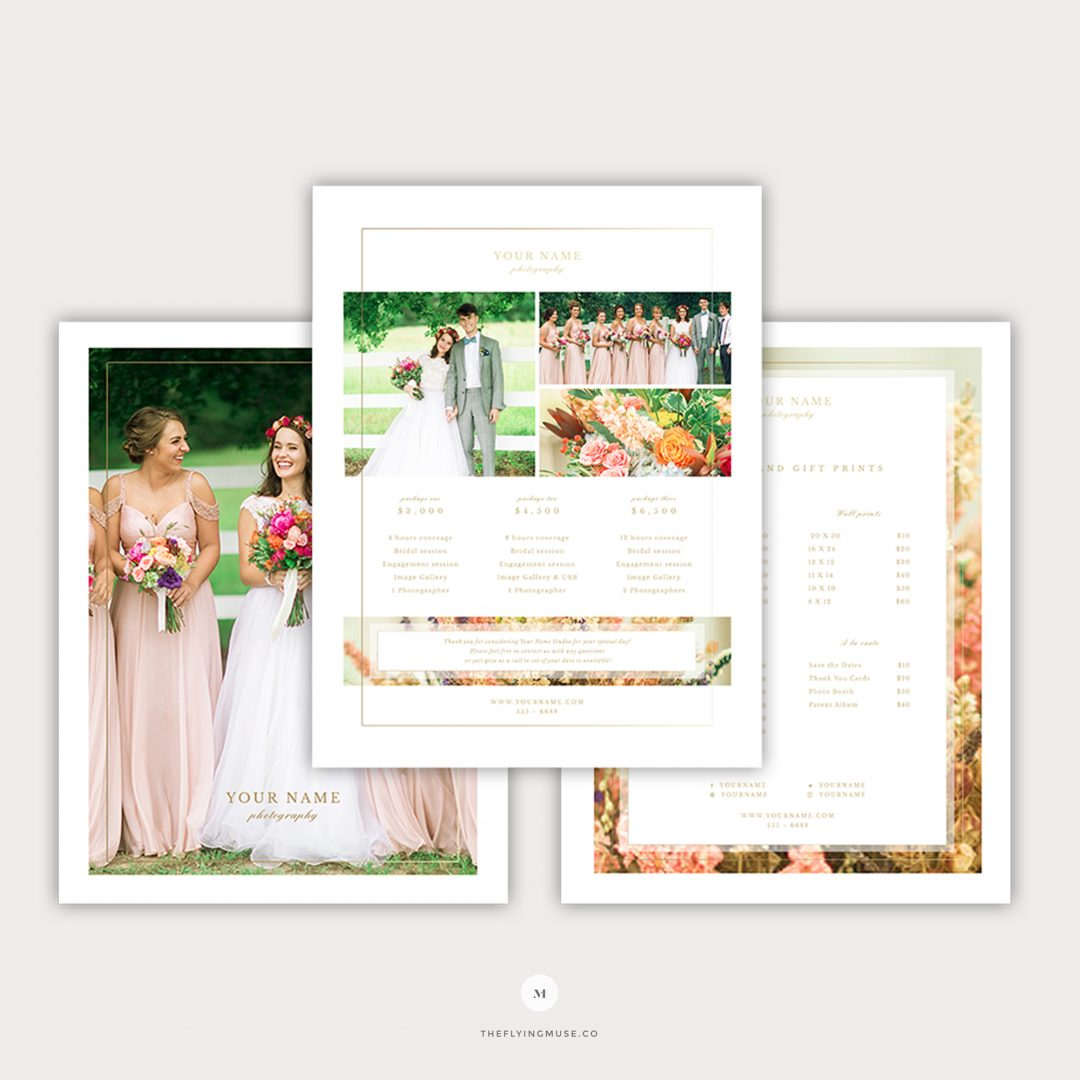 Wedding Photography Pricing Template PG011