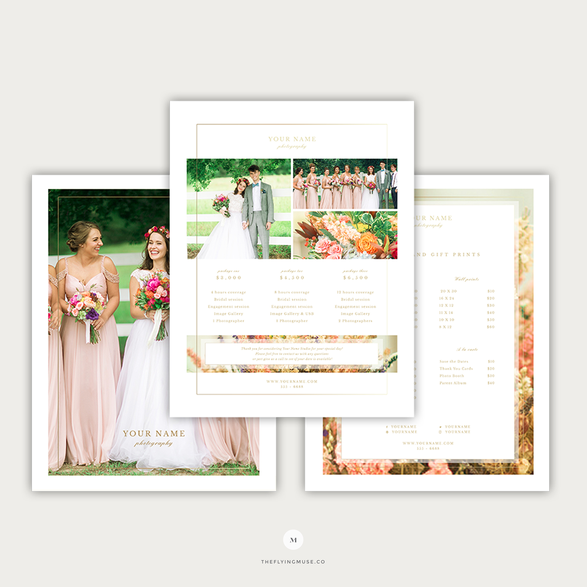 Wedding Photography Pricing Template The Flying Muse