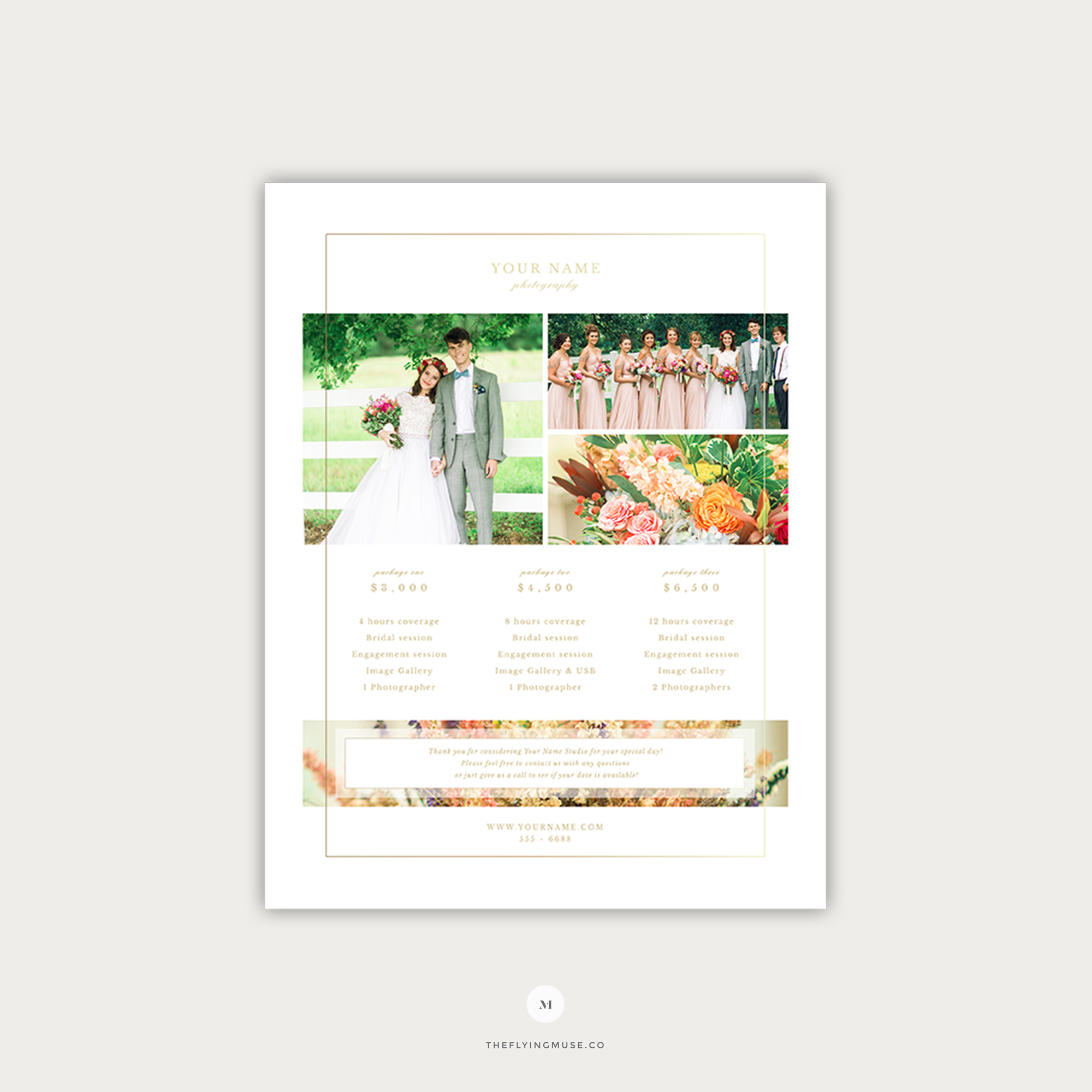 Wedding Photography Pricing Template - the Flying Muse