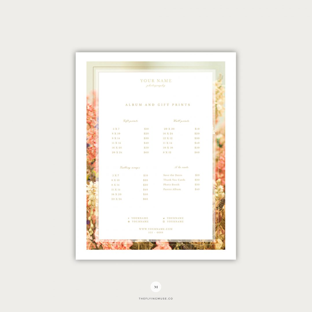 Wedding Photography Pricing Template Page 3 PG011
