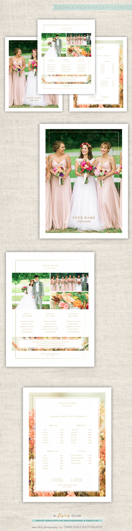 Wedding Pricing Guide Template Design