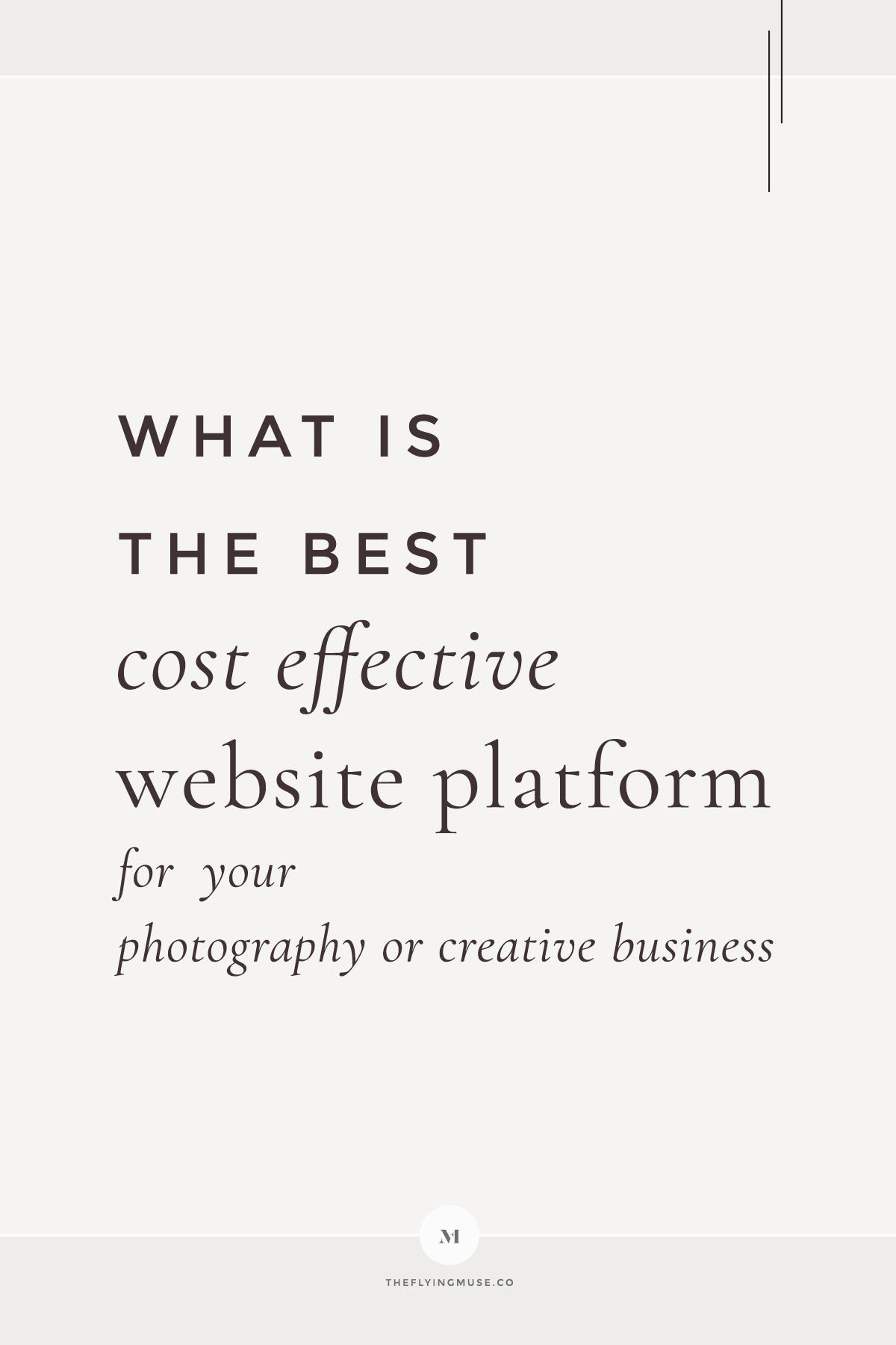 What is the best cost effective website platform for your photography or creative business