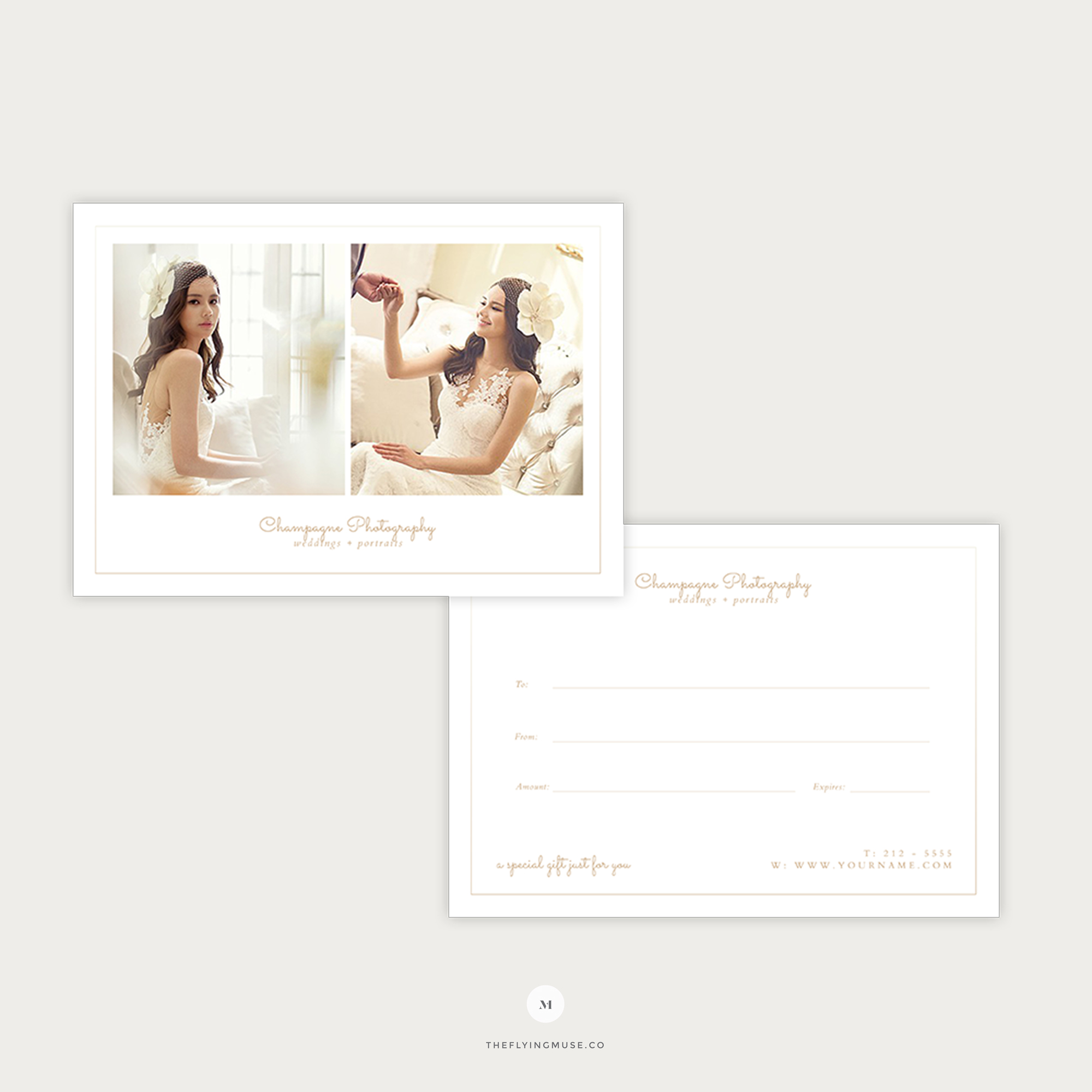 Minimal Gift Certificate Template for Wedding Photographers