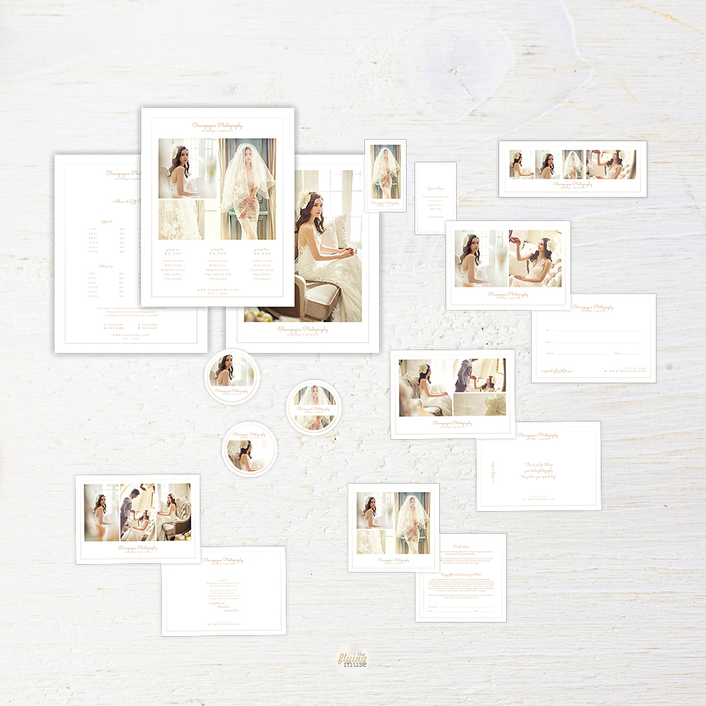 Minimal Wedding Photography Marketing Suite