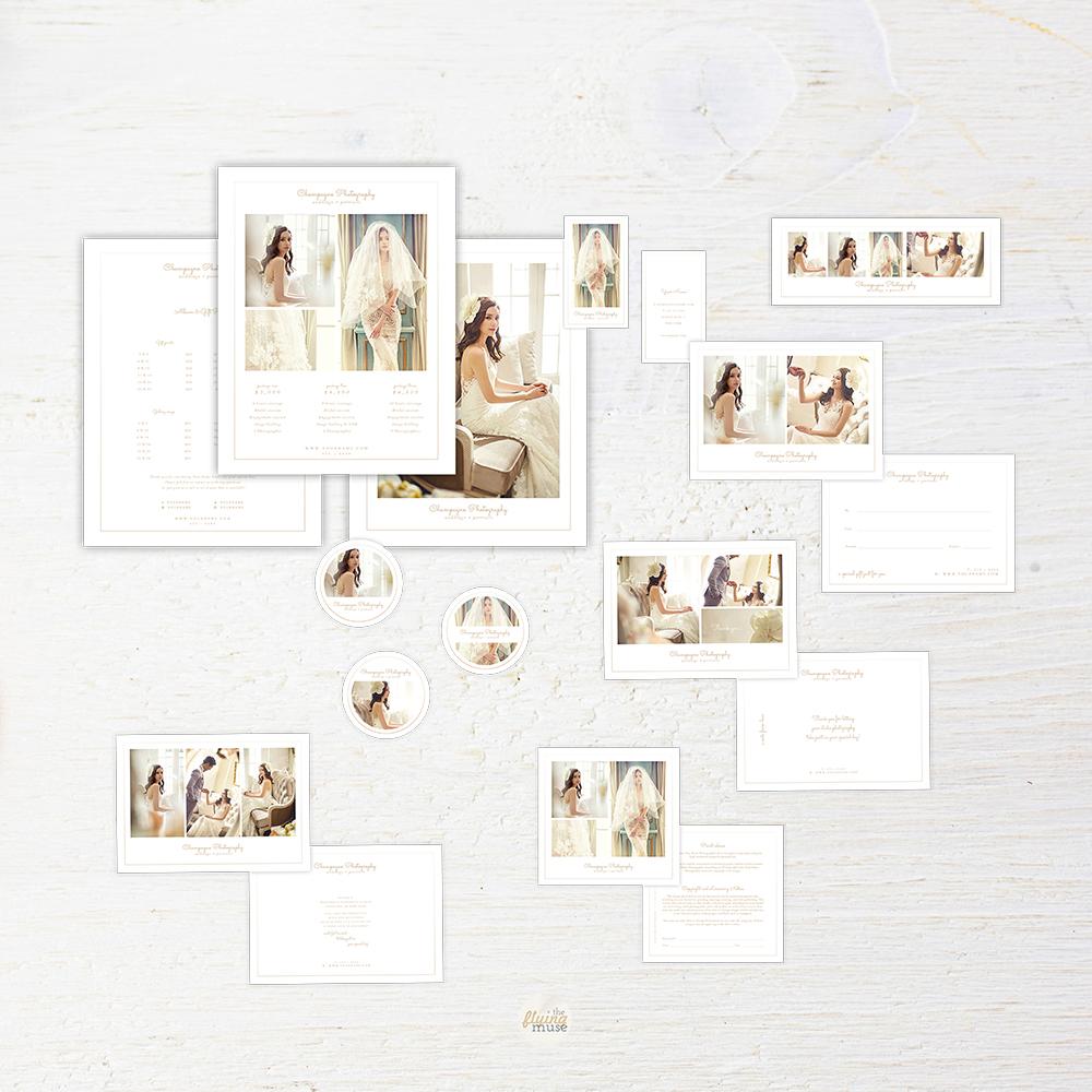 Minimal Wedding Photography Marketing Suite