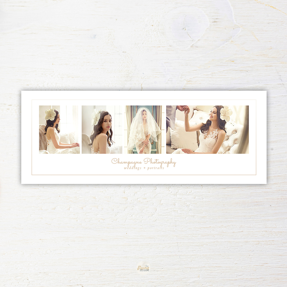 Minimal Wedding Photography Facebook Timeline Cover Template