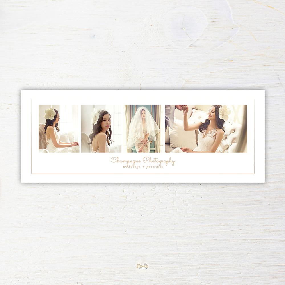 Elegant Minimal Wedding Photography Facebook Timeline Cover Template
