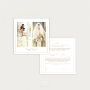 Minimal Wedding Photography Print Release Template