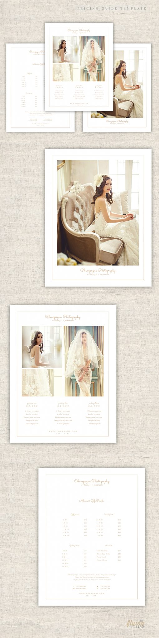 Minimal Wedding Pricing Guide Template