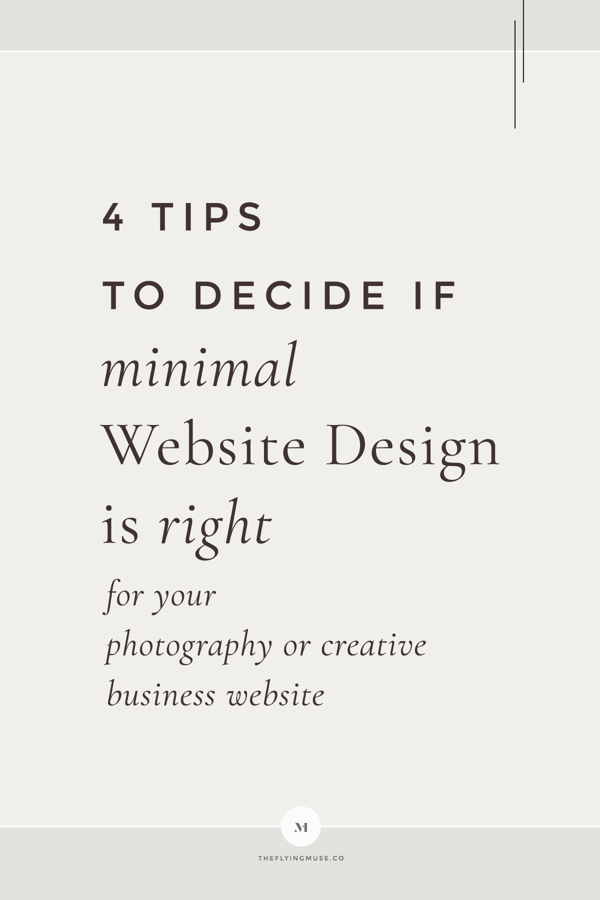 Tips How to Decide if Minimal Website Design is Right for your Photography or Creative business