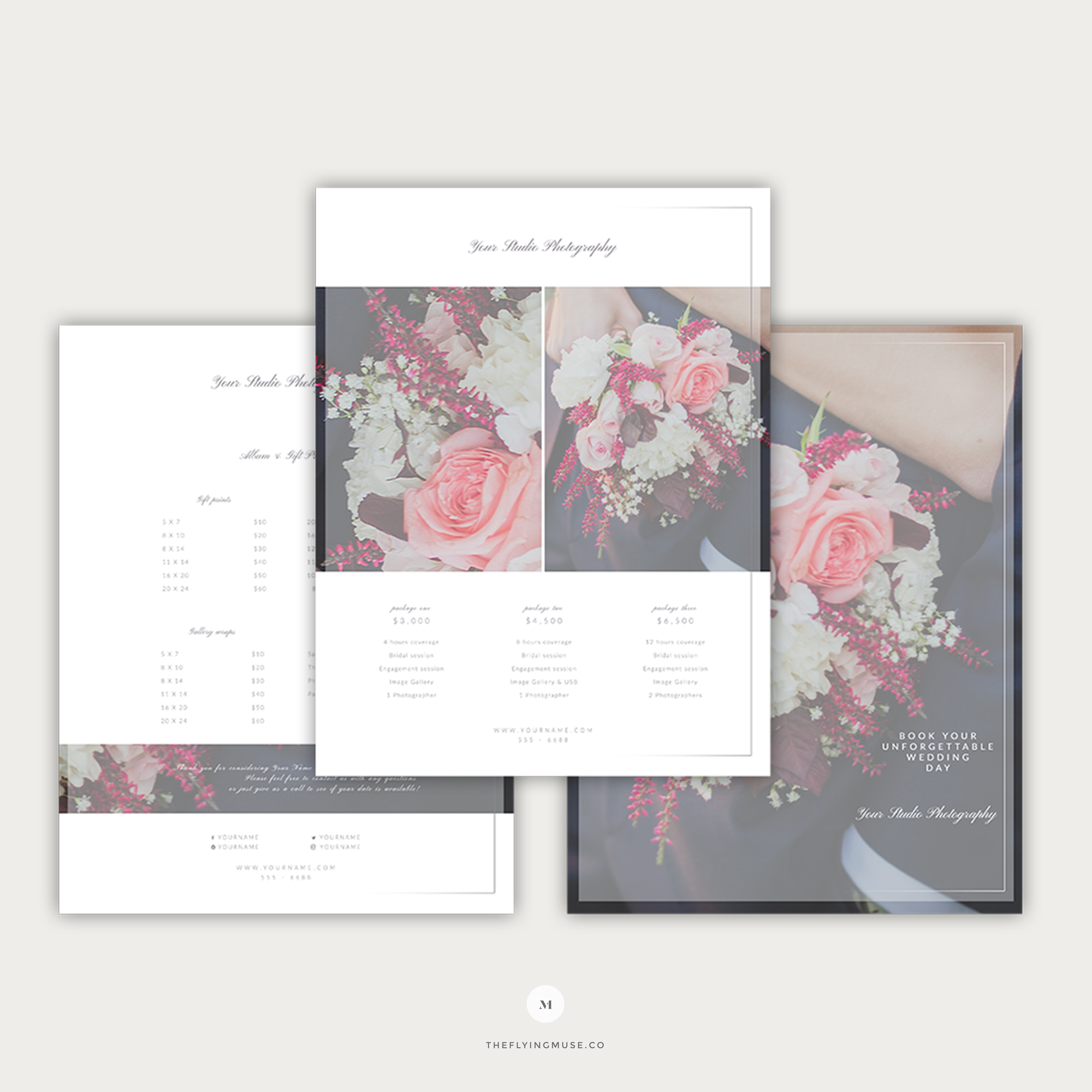 Pricing Guide Template Design For Wedding Photographers