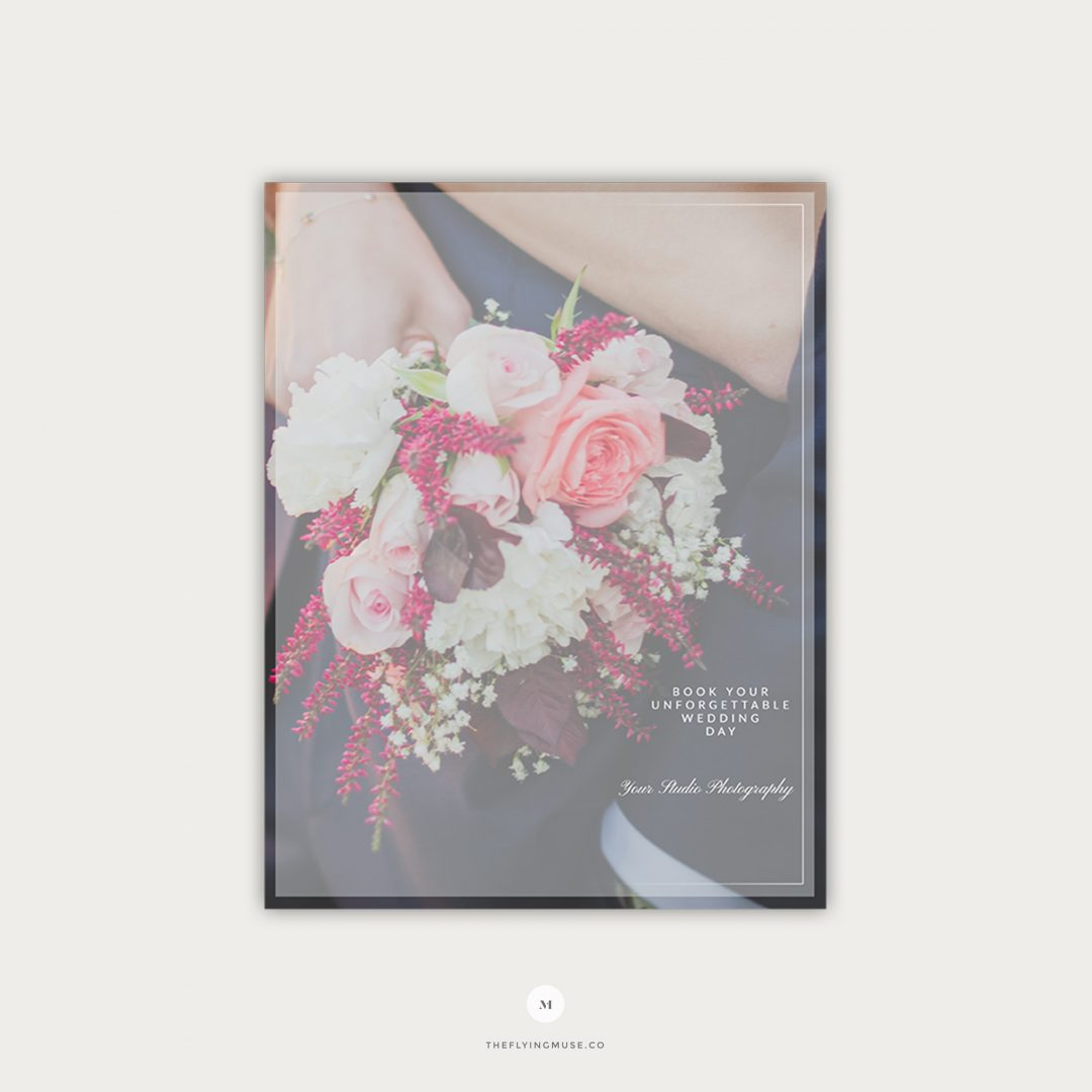 Wedding Pricing Guide Template Design Page 1 PG004