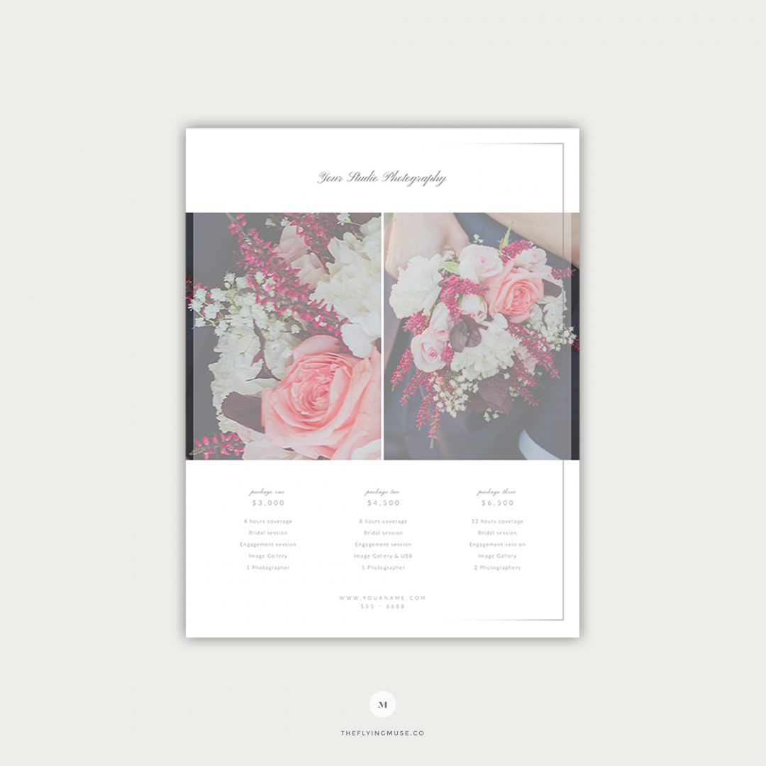 Wedding Pricing Guide Template Design Page 2 PG004