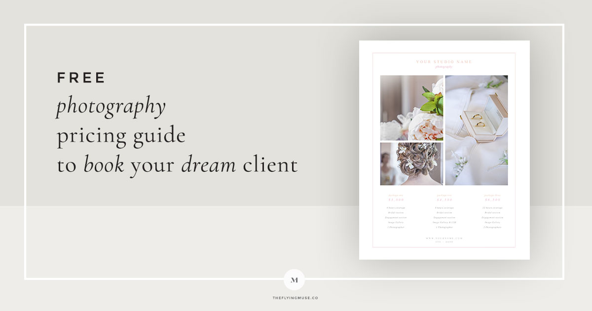 Free Wedding Photography Pricing Guide Photo Template Design