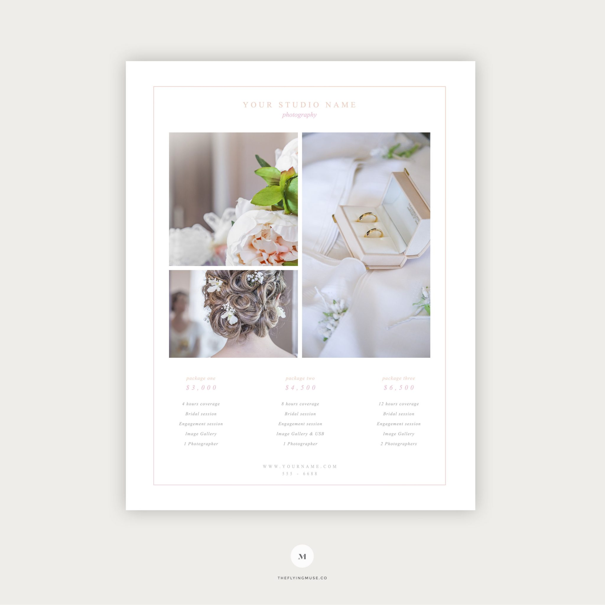 Free Wedding Photography Pricing Guide Template Design