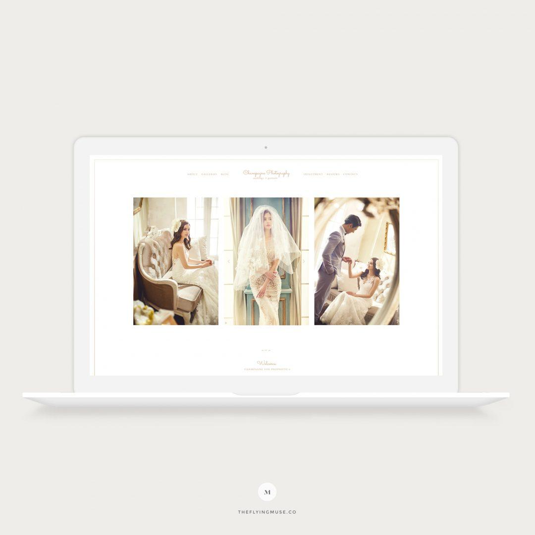 Champagne minimal ProPhoto website design