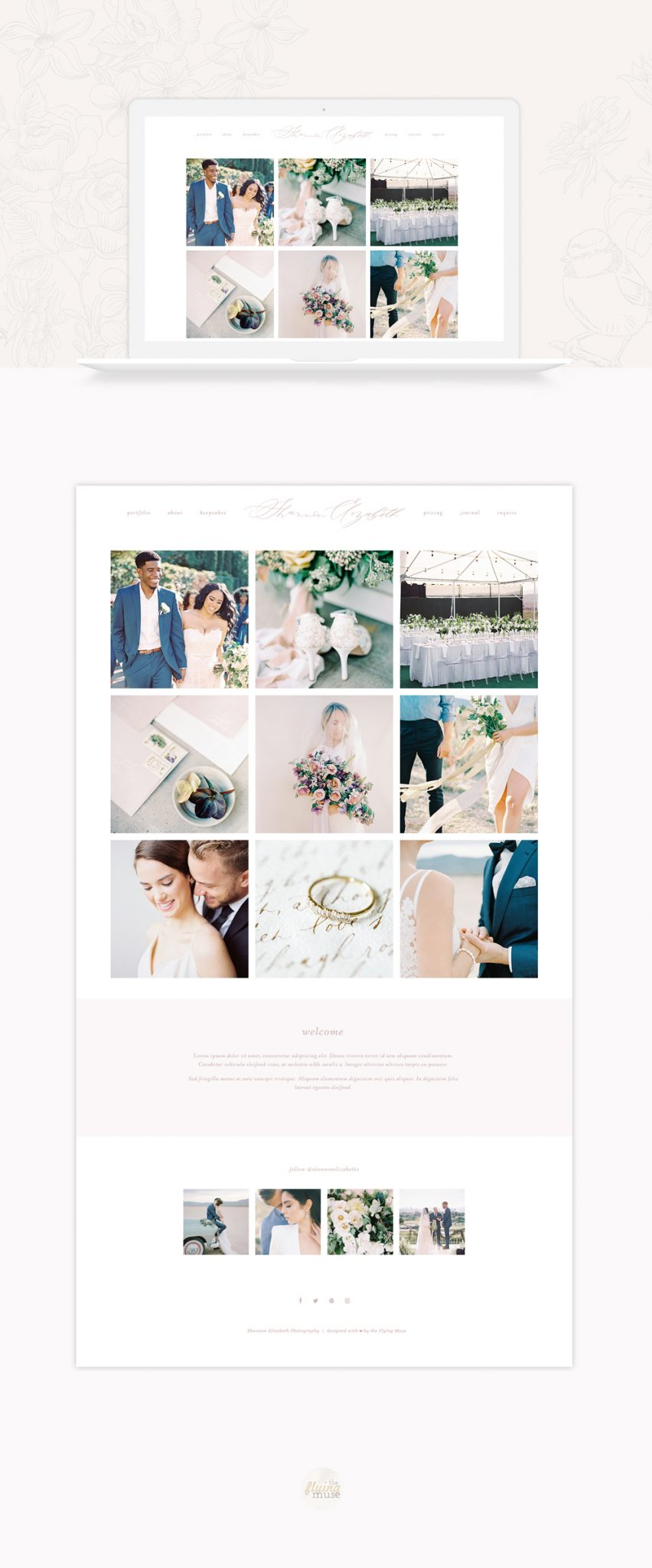 Shannon Elizabeth Photography | ProPhoto 6 Website Design by the Flying Muse