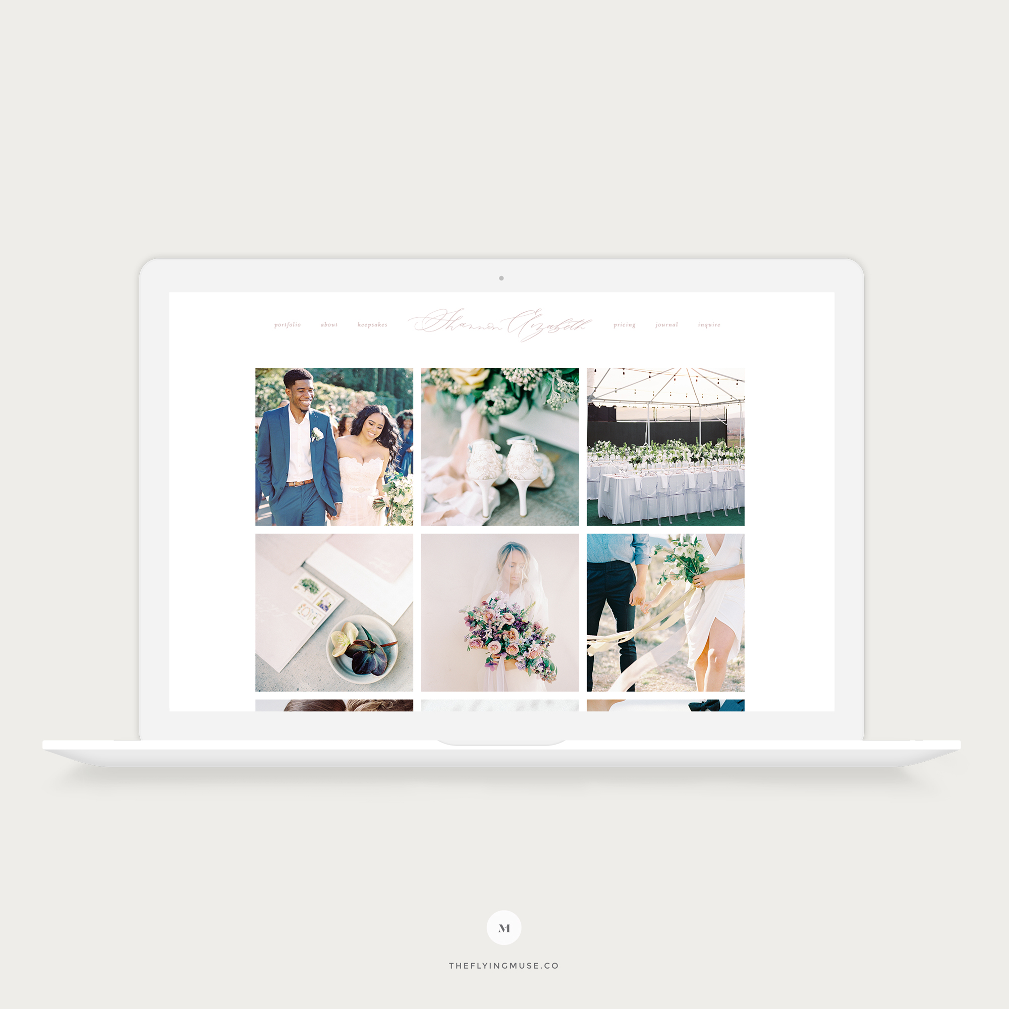 Wedding Photography ProPhoto Website Design for Shannon Elizabeth Photography by the Flying Muse