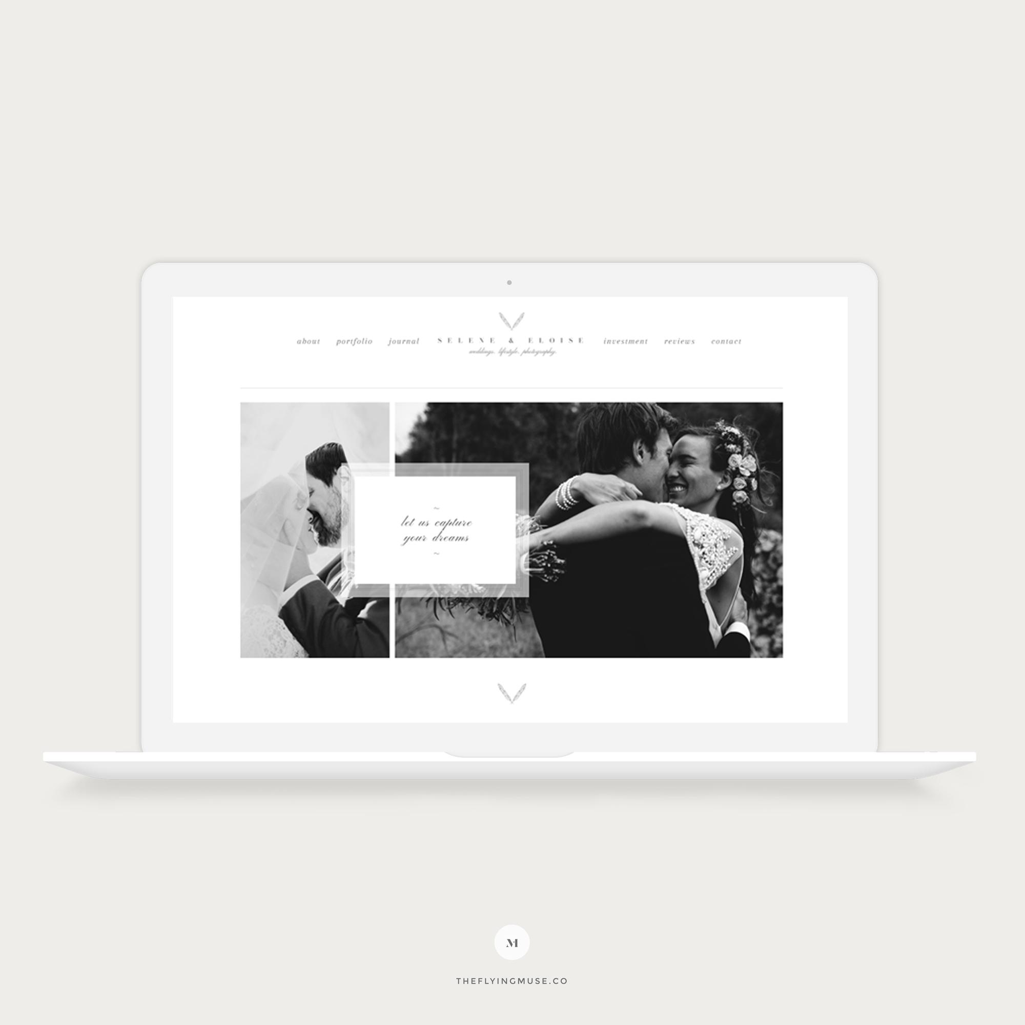 Selene - Classic & Timeless Wedding Photography ProPhoto 6 Design Template